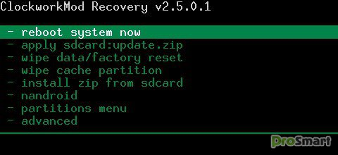 ClockworkMod Recovery 2.5.0.4 [Huawei U8500 only]