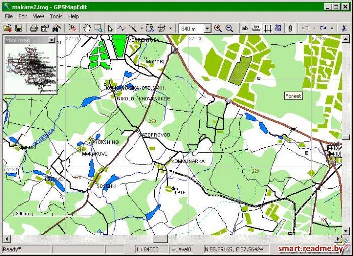 GPSMapEdit v1.0.39.4 (06.12.2007) - программа предназначена для визуального