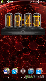 Nixie Clock Widget Black 2.2