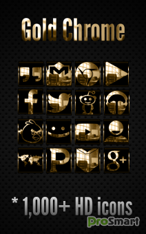 Gold Сrome - Icon Pack 3.2.4.1