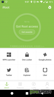 iRoot 1.8.9 PC + 3.4.5 Android