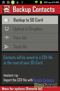 Backup Contacts 0.9.4