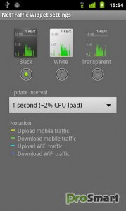 Network Traffic Widget 1.4