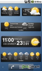 Weather widgets 15.1